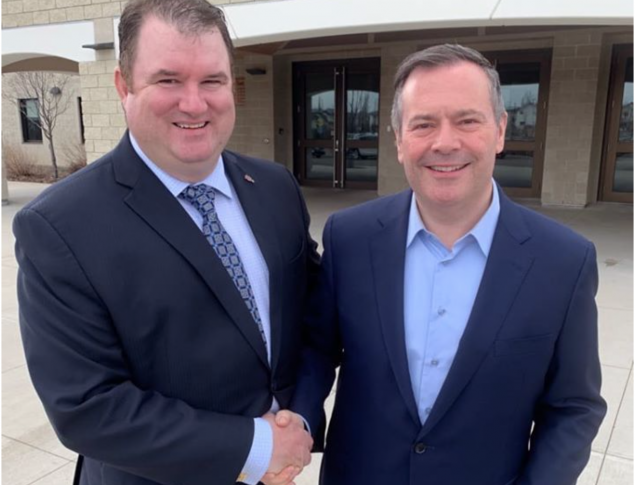 Joel Mullan with Jason Kenney